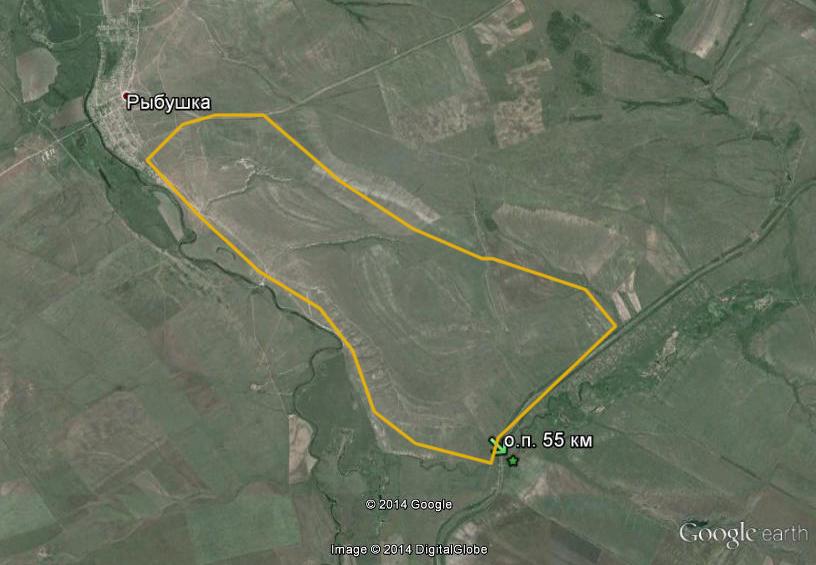 Примерная схема маршрута.